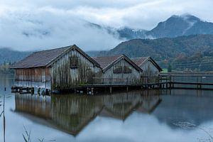 Fischerhütten am Kochelsee