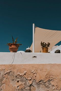 Oia stad op Santorini Griekenland