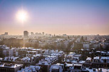 Zicht over Amsterdam sur Leon Weggelaar