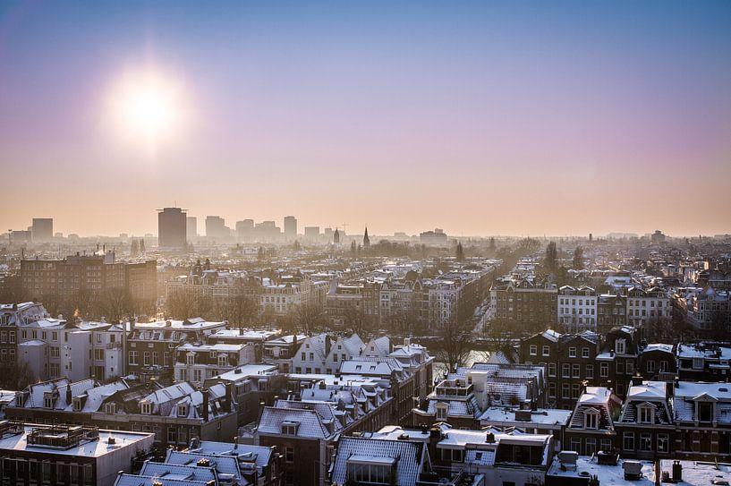 Zicht over Amsterdam von Leon Weggelaar