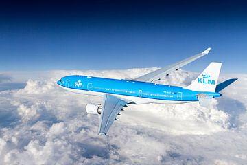 KLM Airbus A330-200 in Reiseflughöhe von Jeffrey Schaefer