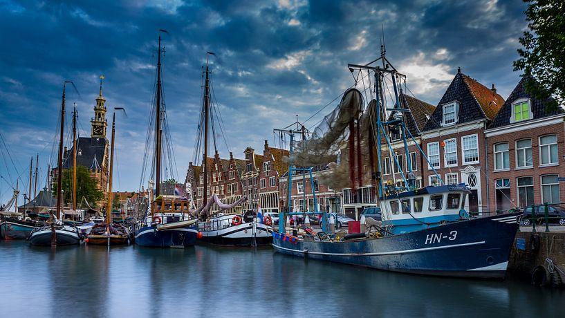 Haven van Hoorn vlakbij de Hoofdtoren von Chris Snoek
