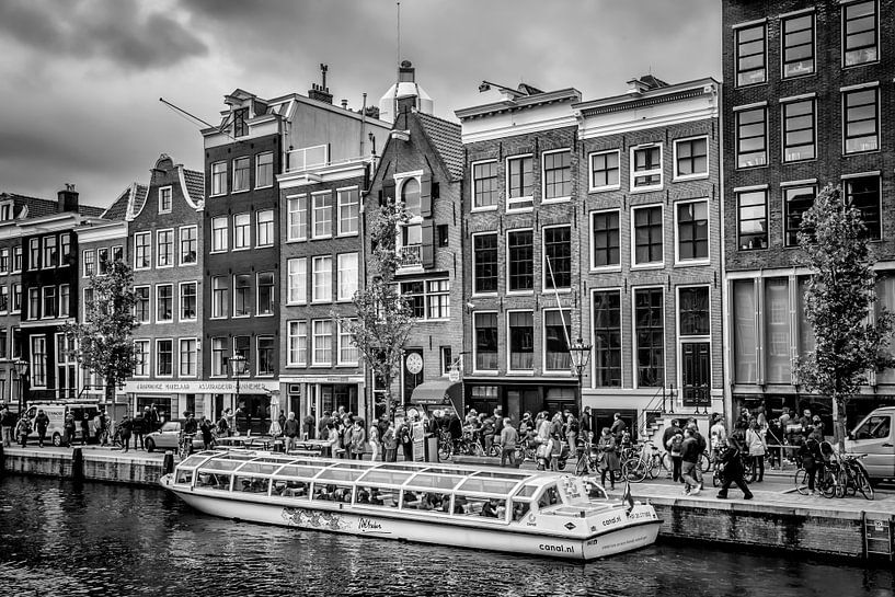 AMSTERDAM Prinsengracht | monochrom van Melanie Viola