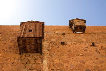 Buitenmuren van het St. Katharinaklooster in Egypte van Marcel Alsemgeest