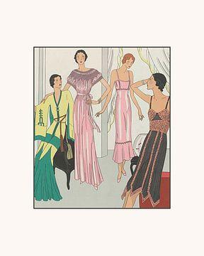 De elegante avond | Historische Art Deco Mode prent | Vintage Advertentie van NOONY