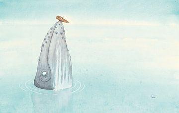 Een bultrug op zee van Marieke Nelissen