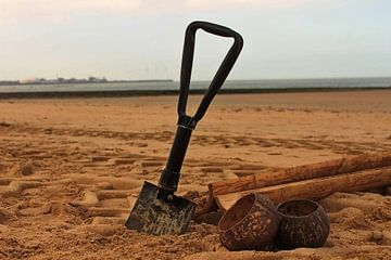 schop in 't zand van Jean Jacobs