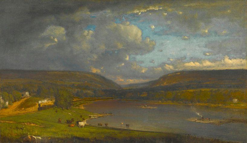 Am Fluss Delaware, George Inness von Meesterlijcke Meesters