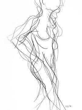 Vrouwelijk naakt staand met arm in zij. vtwonen van Kris Stuurop