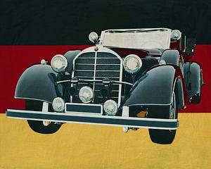 Mercedes 770K Limousine uit 1938 voor de Duitse vlag