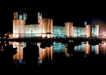 Caernarfon Castle van Patrick vdf. van der Heijden