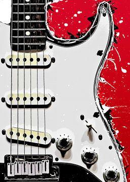Gitaarmuziekkunst #gitaar #muziek van JBJart Justyna Jaszke