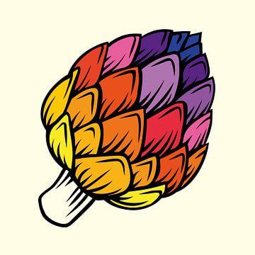 Life is like eating Artichokes van Harry Hadders