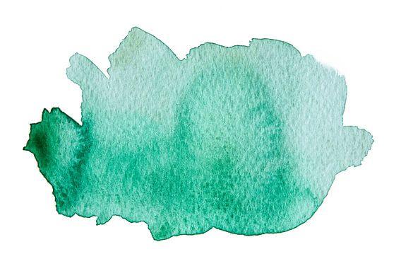 Turquoise van Watercolor Wall