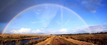 Regenboog boven Wapserveense Aa sur Hielke Roelevink