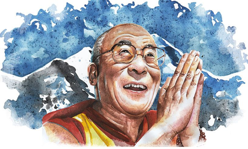 His Holiness the 14th Dalai Lama Tenzin Gyatso van nilaya van vliet