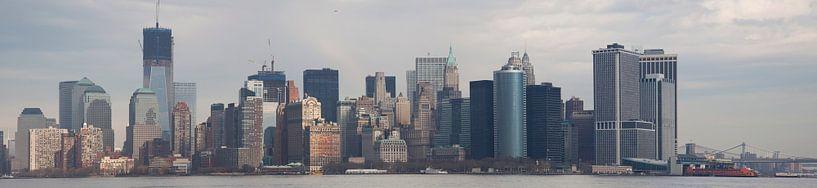 New York City Skyline van Guido Akster