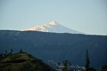 Tenerife's vulkaan Teide in een lichte winterjurk van kanarischer Inselkrebs Heinz Steiner