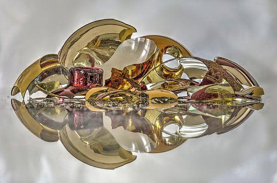 Rood, zilver en goud van Frans Blok