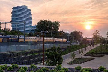 Zonsondergang Station Europapark van Frenk Volt