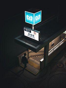 Tokio bei Nacht von Ashwin wullems