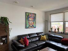 """Kundenfoto: FRIDA """"Rosa Blumen"""" von Kathleen Artist Fine Art, auf leinwand"""