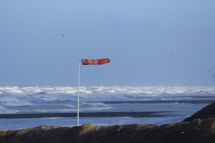 Storm op zee van Johan Töpke