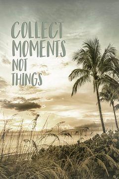 Verzamel momenten, geen dingen. van Melanie Viola
