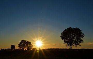Sonnenuntergang über dem Polder von A'da de Bruin