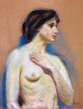 Nackte Frau zeigt ihre Brüste, Vintage erotische Kunst. Nackt, Alice Pike Barney. von Atelier Liesjes