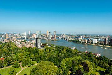 Stadsgezicht van Rotterdam met de Erasmusbrug. sur Brian Morgan