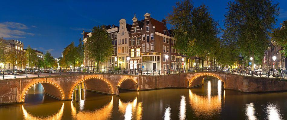 Panorama Grachten Amsterdam van Anton de Zeeuw