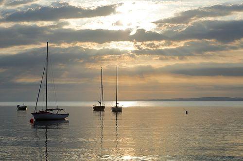 zonsopkomst zeiljachten