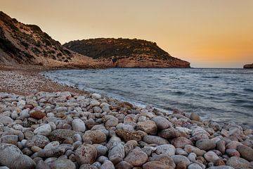 Strand in Spanien bei Sonnenuntergang von Erik Groen