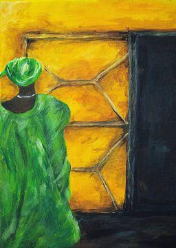 Gambianische Frau. von Ineke de Rijk