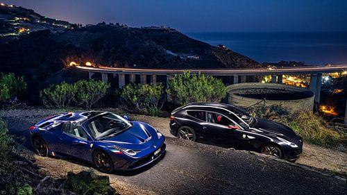 Ferrari 458 Aperta en FF in de bergen bij Monaco von Ansho Bijlmakers