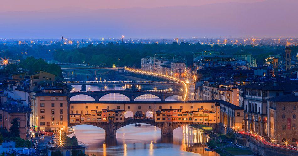 Ponte Vecchio, Florence, Tuscany, Italy van Henk Meijer Photography
