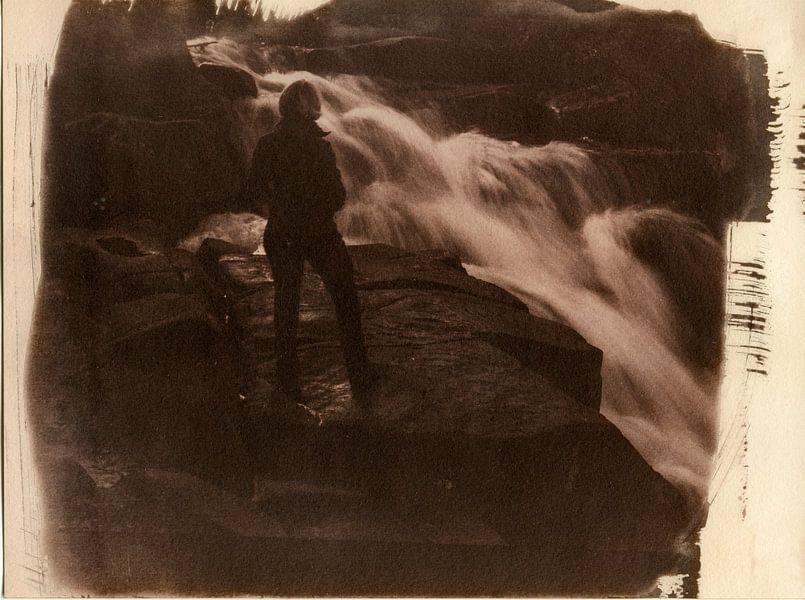 Ilsestein waterval in de Harz, Duitsland