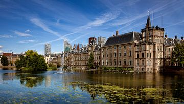 Hofvijver en Binnenhof, Den Haag, Nederland van Adelheid Smitt