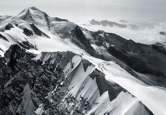 Alpinisten op de Breithorn van Menno Boermans