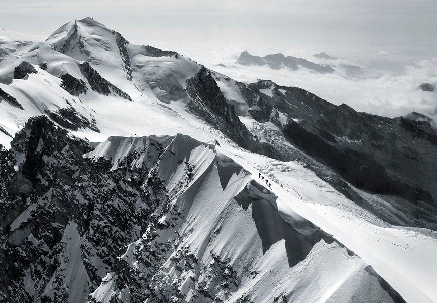 Bergsteiger am Breithorn von Menno Boermans