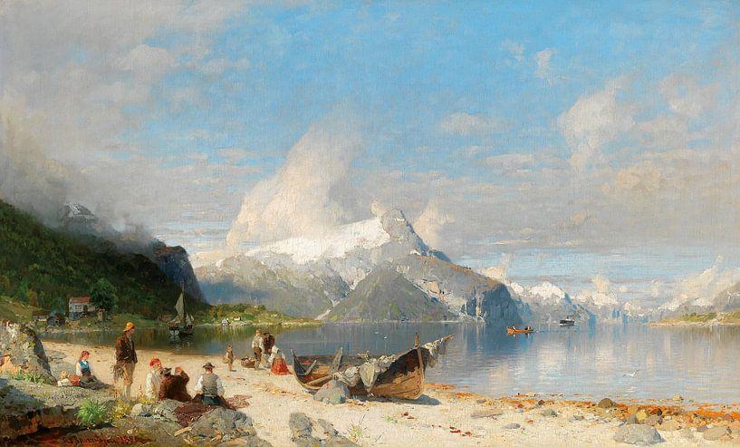 A summer day by the fjord, Georg Anton Rasmussen von Meesterlijcke Meesters