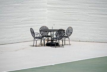 Gartenmöbel bei Hearst Castle, Kalifornien von Lars-Olof Nilsson