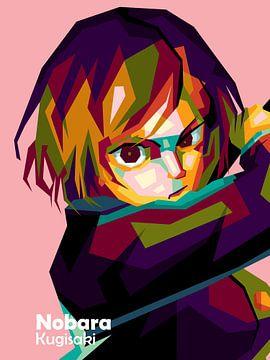 Anime Nobara Kugisaki in wpap van miru arts