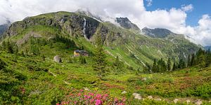 Panorama Gollinghütte in de Schladminger Tauern