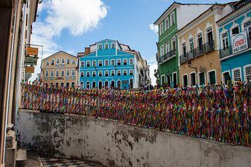 Koloniale gebouwen in Salvador de Bahia van Martijn Mureau