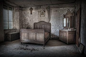Das verlassene Schlafzimmer von