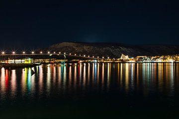 Tromso bei Nacht von Willemke de Bruin