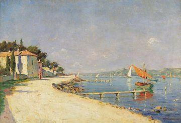 Stanislas Lépine~Landschaft mit Booten
