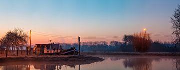 Morgensvroeg aan de Dender in Idegem van Marcel Derweduwen